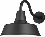 Seagull 8737401-12 Barn Light Contemporary Black Outdoor Large Wall Lamp