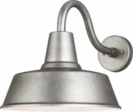 Seagull 8737401-57 Barn Light Modern Weathered Pewter Exterior Large Wall Lighting