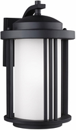 Seagull 8747901DEN3-12 Crowell Contemporary Black LED Exterior Wall Lamp