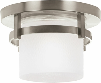 Seagull 88115EN-962 Eternity Contemporary Brushed Nickel LED Exterior Flush Ceiling Light Fixture