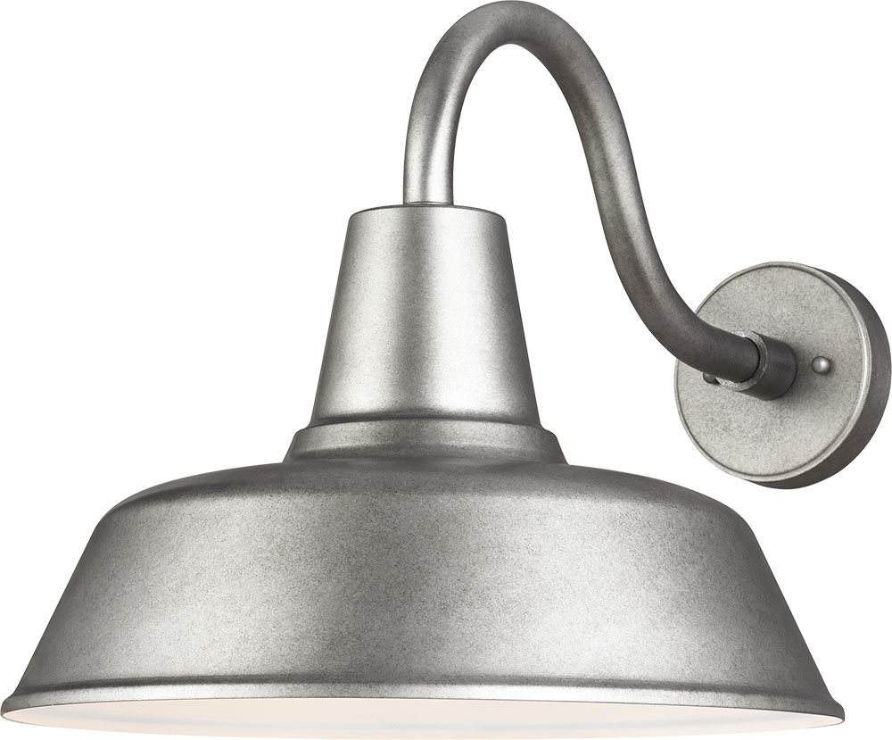 Seagull 8837401 57 Barn Light Modern Weathered Pewter Exterior Extra Large Wall Lighting Sconce