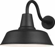 Seagull 8837401EN3-12 Barn Light Contemporary Black LED Outdoor Extra Large Wall Sconce Lighting