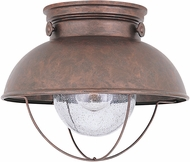 Seagull 8869-44 Sebring Retro Weathered Copper Outdoor Ceiling Lighting Fixture