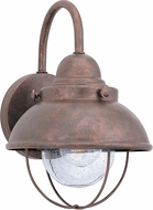 Seagull 8870-44 Sebring Retro Weathered Copper Exterior 8 Wall Light Sconce