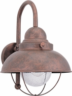 Seagull 8871-44 Sebring Retro Weathered Copper Outdoor 11.25 Wall Sconce Light