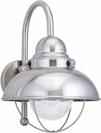Seagull 8871-98 Sebring Vintage Brushed Stainless Exterior 11.25 Wall Sconce