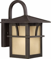 Seagull 88880-51 Medford Lakes Craftsman Statuary Bronze Outdoor 7 Wall Lamp