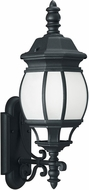 Seagull 89103-12 Wynfield Traditional Black Outdoor Lighting Wall Sconce