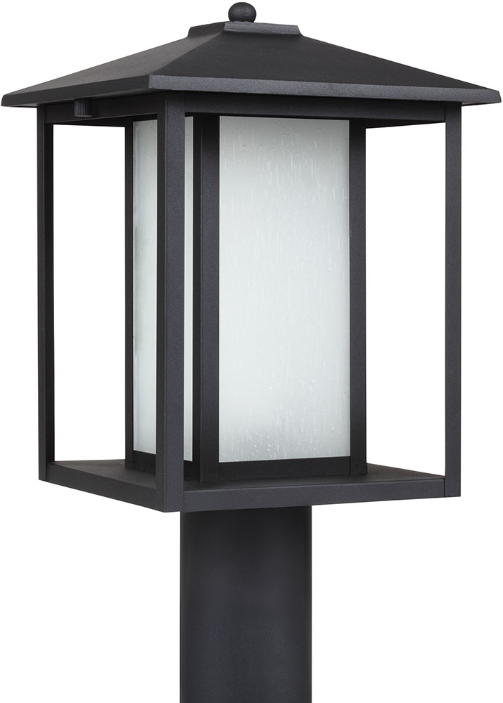 Seagull 89129 12 Hunnington Contemporary Black Led Exterior Lamp Post Light Fixture Loading Zoom