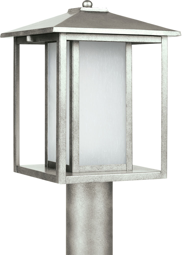 seagull 89129en 57 hunnington modern weathered pewter led outdoor