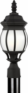 Seagull 89202-12 Wynfield Traditional Black Outdoor Lighting Post Light