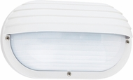 Seagull 89805-15 Bayside Modern White Exterior Wall Mounted Lamp