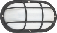Seagull 89806-12 Bayside Contemporary Black Outdoor Wall Light Sconce