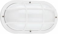 Seagull 89806EN-15 Bayside Modern White LED Outdoor Wall Mounted Lamp