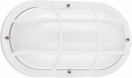 Seagull 89806EN3-15 Bayside Contemporary White LED Outdoor Wall Sconce