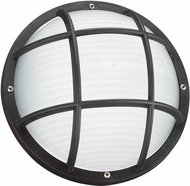 Seagull 89807-12 Bayside Contemporary Black Exterior Wall Lamp
