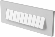 Seagull 94483S-849 LED Brick Lighting Modern Satin Nickel LED Outdoor Step Lighting