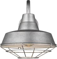 Seagull 96374-57 Barn Light Contemporary Weathered Pewter 12 Wall Mounted Lamp