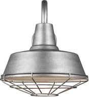 Seagull 97374-57 Barn Light Modern Weathered Pewter 14 Wall Light Sconce