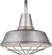 Seagull 98374-57 Barn Light Contemporary Weathered Pewter 16 Wall Lamp
