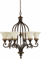 Seagull F2224/6WAL Drawing Room Traditional Walnut Chandelier Lamp