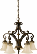 Seagull F2397/5WAL Drawing Room Traditional Walnut Chandelier Light