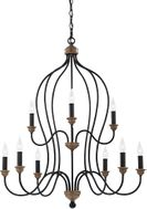 Seagull F29999DWZWO Hartsville Traditional Dark Weathered Zinc / Weathered Oak LED Chandelier Lighting
