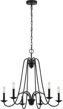 Seagull F3205/6AF Boughton Antique Forged Iron Chandelier Light