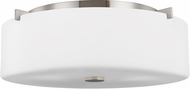 Seagull FM312BS Sunset Drive Contemporary Brushed Steel 16 Overhead Lighting