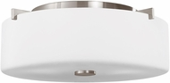 Seagull FM313BS Sunset Drive Contemporary Brushed Steel 13.5 Overhead Light Fixture