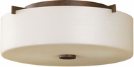 Seagull FM313CB Sunset Drive Modern Corinthian Bronze LED 13.5  Flush Mount Ceiling Light Fixture