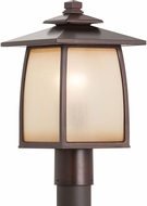 Seagull OL8508EN3/SBR Wright House Sorrel Brown LED Outdoor Post Light Fixture