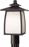 Seagull OL8508ORB Wright House Oil Rubbed Bronze Exterior Pole Lighting Fixture