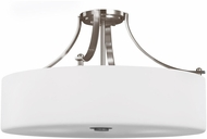 Seagull SF254EN3/BS Sunset Drive Contemporary Brushed Steel LED 22 Flush Mount Lighting Fixture