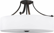 Seagull SF254ORB Sunset Drive Modern Oil Rubbed Bronze LED 22  Ceiling Light
