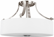 Seagull SF258BS Sunset Drive Contemporary Brushed Steel LED 16  Ceiling Light Fixture