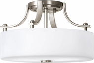 Seagull SF259BS Sunset Drive Contemporary Brushed Steel LED 13  Flush Lighting