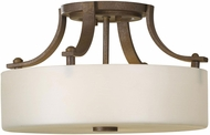 Seagull SF259CB Sunset Drive Modern Corinthian Bronze LED 13  Flush Mount Lighting