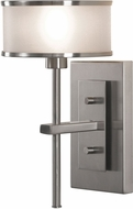 Seagull WB1378BS Casual Luxury Brushed Steel Wall Light Fixture