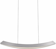 Sonneman 1742.16 Kabu Modern Bright Satin Aluminum LED Kitchen Island Light