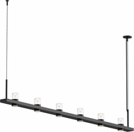 Sonneman 20QKL08B Intervals Contemporary Satin Black LED Kitchen Island Light