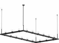Sonneman 20QKR48B Intervals Contemporary Satin Black LED Kitchen Island Light Fixture