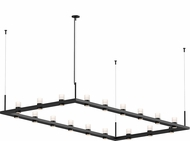 Sonneman 20QKR48C Intervals Modern Satin Black LED Island Lighting
