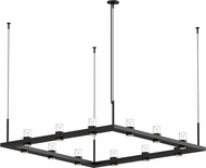 Sonneman 20QKS04B Intervals Contemporary Satin Black LED Chandelier Light