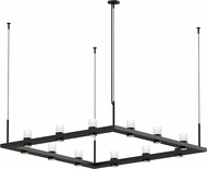 Sonneman 20QKS04C Intervals Modern Satin Black LED Chandelier Lighting