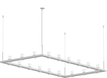 Sonneman 20QWR48B Intervals Contemporary Satin White LED Kitchen Island Light