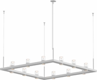 Sonneman 20QWS04B Intervals Contemporary Satin White LED Lighting Chandelier