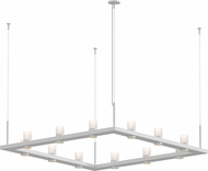Sonneman 20QWS04C Intervals Modern Satin White LED Chandelier Lamp