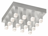Sonneman 2122.16 Connetix 12 Inch Wide Square Contemporary Flush Mount LED Ceiling Lighting