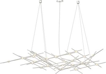 Sonneman 2155.13C Constellation Contemporary Satin Nickel LED Chandelier Lighting